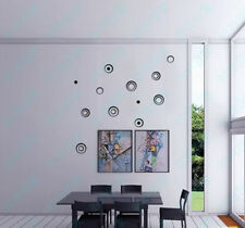 Removable 3D DIY Wall Stickers Circles Creative Stereo Art Decal Home Decor New
