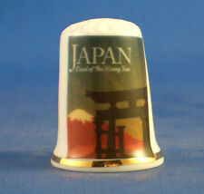 Birchcroft China Thimble -- Travel Poster Series - Japan - Free Dome Gift Box