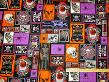 Spooktacular II Unfiltered Poison Freshly Preserved Halloween Fabric by 1/2 Yard