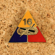 US WW2 16th Armored Division Metal DI Badge. Distinctive Insignia Repro AB524