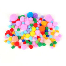 120 Assorted Colors Sizes SOFT Fluffy POMPOMS Craft POM POMS felt balls Crafting