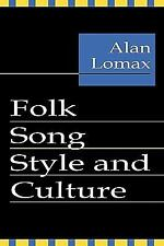 Folk Song Style and Culture, , Very Good Books