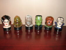 SET OF 6 UNIVERSAL MONSTERS TEA CANDLES FRANKENSTEIN DRACULA WOLFMAN CREATURE