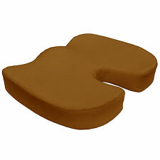 Coccyx Orthopedic Seat Cushion Lumbar Support Comfort Foam Seat Pillow Brown