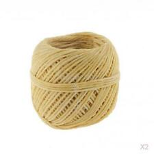 2x Spool of Hemp Wick Beeswax Wick Organic Hemp Wick with Natural 200 Feet 0.1cm