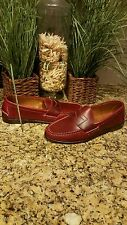 RALPH LAUREN MEN'S Eltham Red Smooth Oiled Leather Penny Loafers Shoes Size 13 D