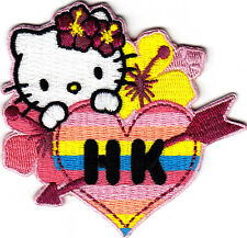 HELLO KITTY HAWAII - Cartoon Character/Iron On Embroidered Applique Patch