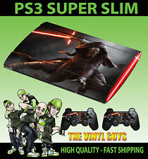 PLAYSTATION PS3 SUPER SOTTILE kylo REN STAR WARS JEDI KNIGHT DARK Side Pelle Autoadesivo