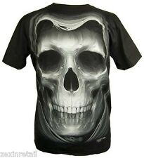 GRIM REAPER GLOW IN THE DARK SKULL T-SHIRT - Amazing Artwork - Same Day Despatch