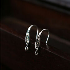 925 Sterling Silver Earrings DIY Ear Wire French Hook Connector - a pair A4205