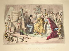 1855 HAND COLOURED COMIC PRINT ~ KING EDWARD MEDICAL