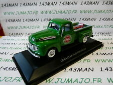 voiture 1/43 MOTOR CITY : FORD PICK-UP COCA COLA + chariot et bouteilles