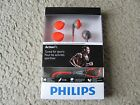 Brand New Philips ActionFit In-Ear Sports Headphones SHQ1200/28 - Orange & Grey