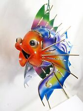 Fish Lantern Tea Light Candle Holders Handpainted Metal Yard & Garden Decor