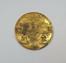 1893 World's Columbian Expo Declaration of Ind. So-Called $ Gilt White Metal AU