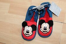 NWT BOYS DISNEY STORE SZ 11-12 MICKEY MOUSE SLIPPERS