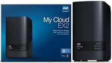 WD 8TB My Cloud EX2 Network Attached Storage - NAS - WDBVKW0080JCH-NESN 8 TB