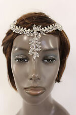 New Women Silver Head Metal Chains Big Beads Fashion Hair Pin Clips Forehead