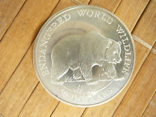 50 dollaro 1990 Cook-Islands Argento PP Grizzly Orso