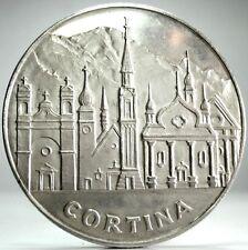 BELLUNO-Veneto (Cortina d'Ampezzo) Medaglia Argento