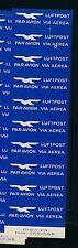 85089) Luftpost Zettel Air Mail Label Schweiz, Streifen Druckvermerk 1979 Abart