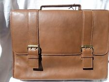 Scully H246 Brown Leather Flap Over Laptop Briefcase