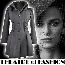 TOPSHOP COAT JACKET VINTAGE 10 8 38 36 US 8 6 40s VICTORIAN RIDING CORSET WOOL