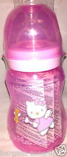 Hello Kitty Newborn baby Girl Pink Feeding Wide Neck Bottle 240ml BPA Free
