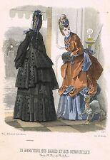 """French Fashion - """"LE MONITEUR DES DAMES ET DES DEMOISELLES"""" - H-C'd Eng. - c1880"""