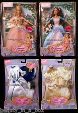 Erika Barbie Doll Anneliese Princess and the Pauper 2 Fashion Sets Lot 4 VG""