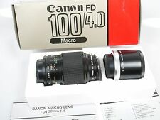 Canon Macro FD 4/100 Con Extension Tube FD 50 U Top + org. imballaggio MINT + BOXED