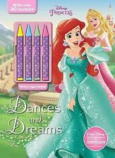 Disney Princess Dances and Dreams (Color & Activity with 4 Chunky Crayons) by P