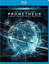 Prometheus (Blu-ray/DVD, 2012, 4-Disc Set, Collectors Edition 3D UltraViolet In…