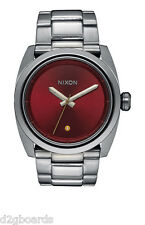 New 2015 Nixon Watch The Kingpin Gunmetal Deep Burgundy Womens Mens NX80