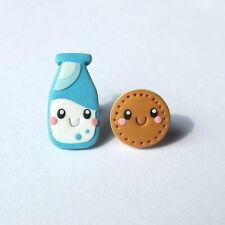 Easter Gifts For Girls Outfit Milk And Cookie Funny Mini Food Earrings Jewelry