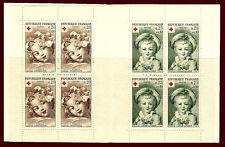 France. Booklet. Red Cross. Arts. Fragonard & Pierrot. 1962. Scott B365-B366