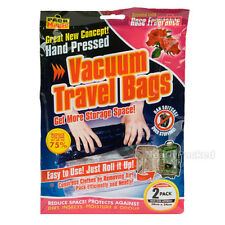 2 Vacuum Clothes Bags for Reducing Luggage Volume