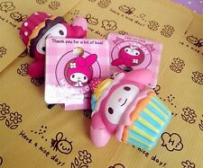 1 pc MY MELODY PINK strawberry CUPCAKE Squishy Charms Cellphone Straps with TAG