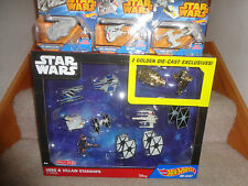 STAR WARS HOT WHEELS EXCLUSIVE HEROES AND VILLAINS SHIPS PLUS 3 MORE SHIPS