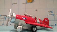 avion NK 2-F-8 US NAVY rouge de SONIC WARPLANE avion miniature de 15 cm environ