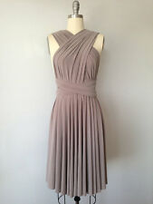 Taupe Short Infinity Convertible Multiway Bridesmaid Dress, Handmade One Size