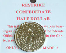 American Civil War Replica Confederate Half Dollar Coin On Information Card NEW