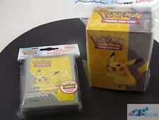 POKEMON TCG ULTRA PRO XY PIKACHU DECK PROTECTOR CARD SLEEVES AND DECK BOX