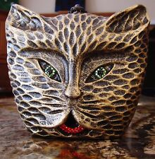 Timmy Woods SWAROVSKI CRYSTAL GRUMPY ANGRY KITTEN CAT KITTY MINAUDIERE PURSE BAG