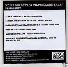 (B749) Nomadic Poet, A Travellers Tale - DJ CD