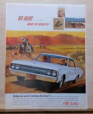 1963 magazine ad for Oldsmobile - F-85 Cutlass and cowboys, where the action is