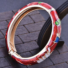 Fashion jewelry gold plated Red Enamel bangle charms bracelet Children