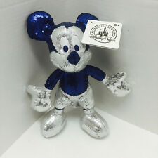 "Disneyland 60th Diamond Anniversary Mickey Mouse Sequin Bling 9"" Plush"