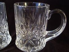 Vintage Cristal d'Arques Durand Chantilly-Taille-Beaugency 2 Coffee Mugs France