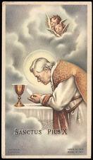 """santino-holy card""""S.PIO X PAPA 13"""